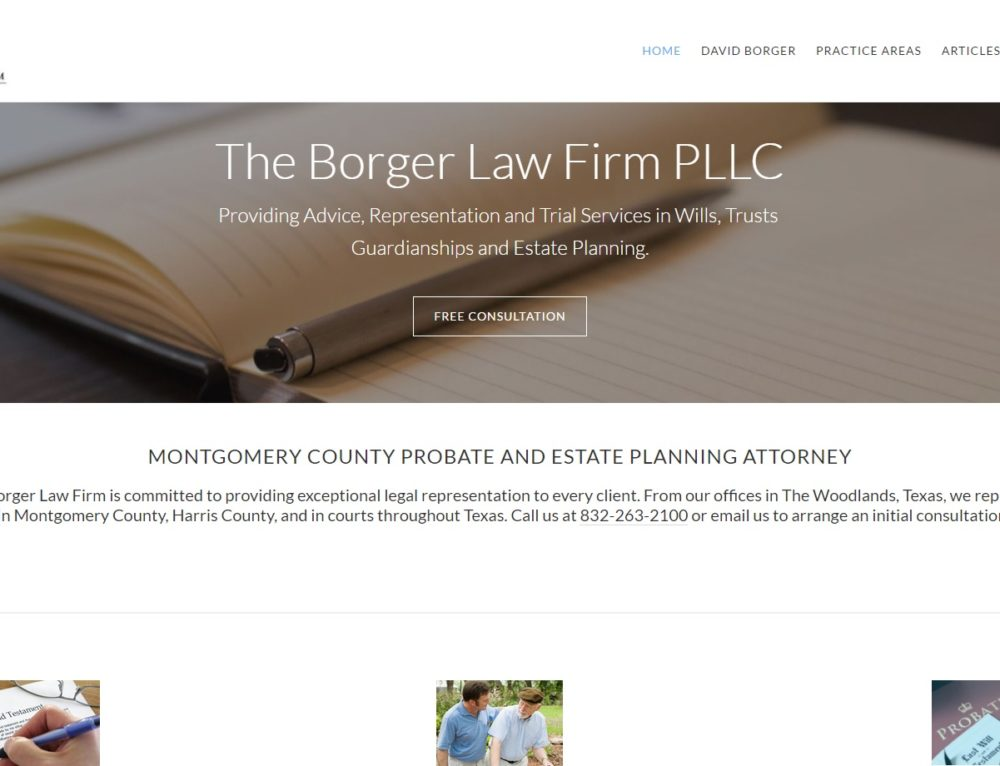 David Borger: Lawyer Website Edits