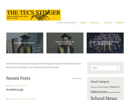 Tierra Encantada School: Journalism Website